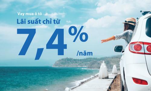 Vay mua ô tô chỉ từ 7,4%/năm cùng VIB tại Hội chợ Oto.com.vn