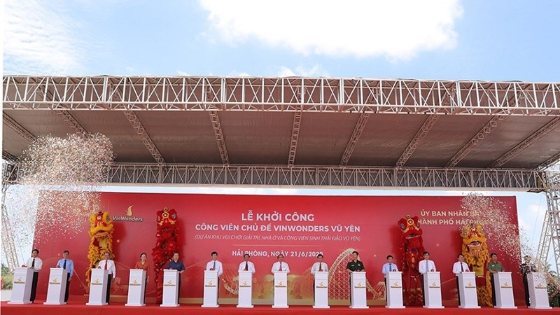Thủ tướng nhấn nút khởi công xây công viên chủ đề 1 tỉ USD lớn nhất Việt Nam
