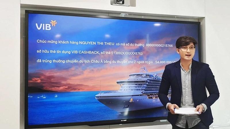 VIB công bố đợt 1 khách hàng mở thẻ tín dụng trúng cặp vé du lịch châu Á bằng du thuyền
