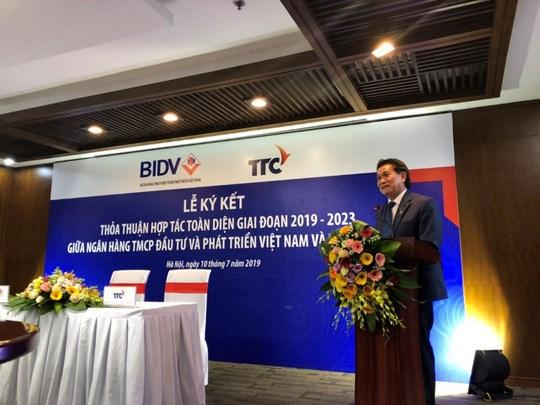Tập đoàn TTC và BIDV hợp tác toàn diện giai đoạn 2019-2023