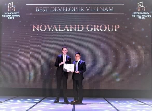 Novaland đoạt giải Best Developer Vietnam tại Dot Property Awards 2019
