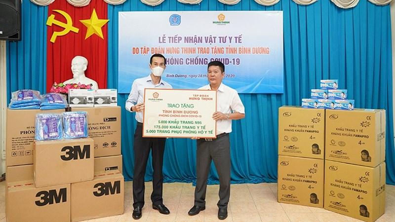 Tập đoàn Hưng Thịnh chung tay phòng, chống dịch Covid-19 tại tỉnh Bình Dương