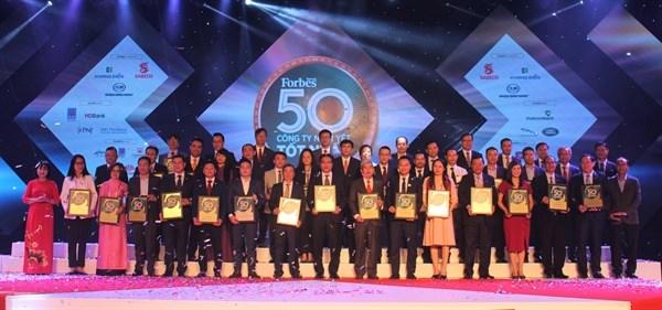 Forbes Việt Nam vinh danh 50 Công ty niêm yết tốt nhất Việt Nam 2020