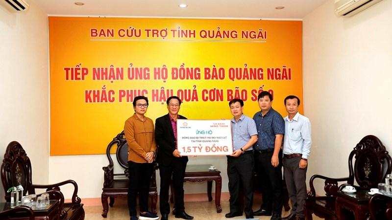 Tập đoàn Hưng Thịnh ủng hộ 3 tỷ đồng hỗ trợ đồng bào bị thiệt hại do bão số 9 tại tỉnh Quảng Nam và Quảng Ngãi