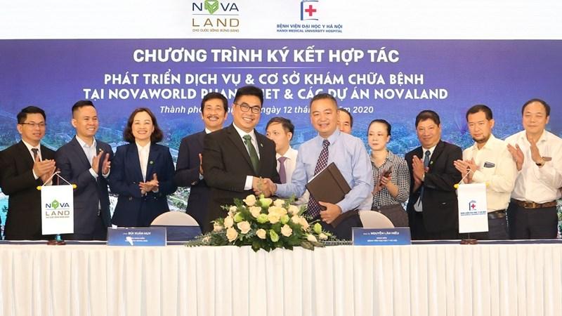 Tập đoàn Novaland và Bệnh viện Đại học Y Hà Nội hợp tác phát triển dịch vụ, cơ sở y tế