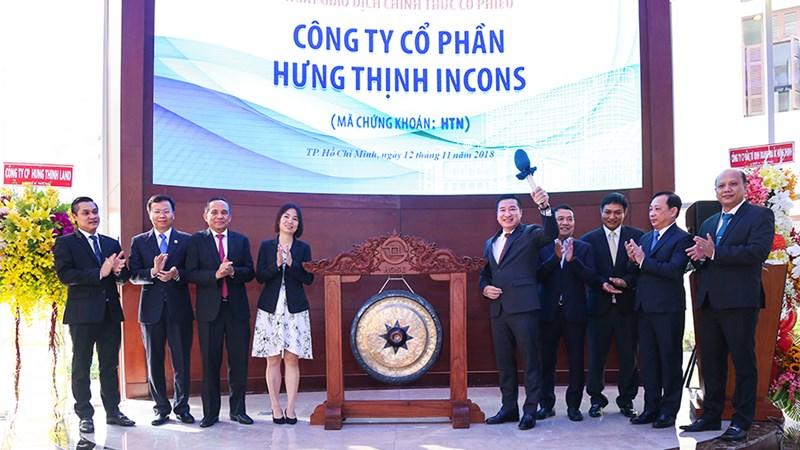 Hưng Thịnh Incons chính thức niêm yết 25 triệu cổ phiếu HTN trên HOSE