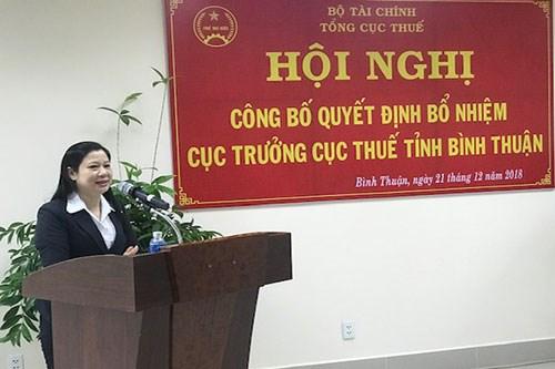 Công bố quyết định bổ nhiệm cục trưởng Cục Thuế tỉnh Bình Thuận