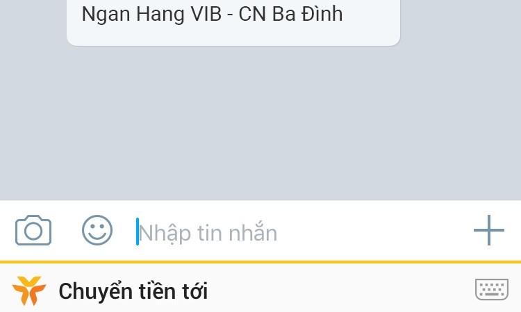 VIB giới thiệu tính năng chuyển tiền nhanh khi chat trên mạng xã hội