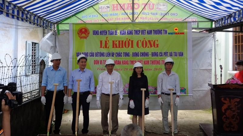 Vietbank tài trợ 1 tỷ đồng xây dựng cầu tại Sóc Trăng