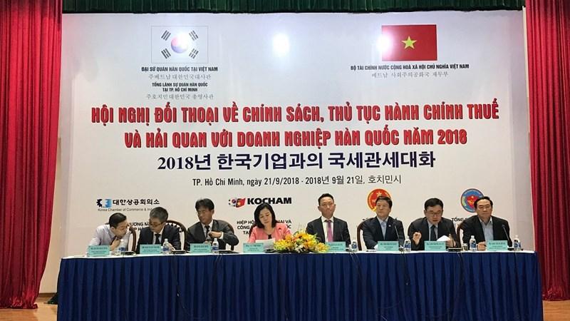 Đối thoại về thuế và hải quan với doanh nghiệp Hàn Quốc khu vực phía Nam