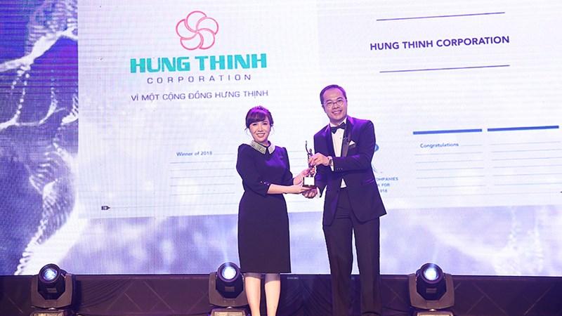 Hung Thinh Corp nhận giải doanh nghiệp có môi trường làm việc tốt nhất Châu Á năm 2018