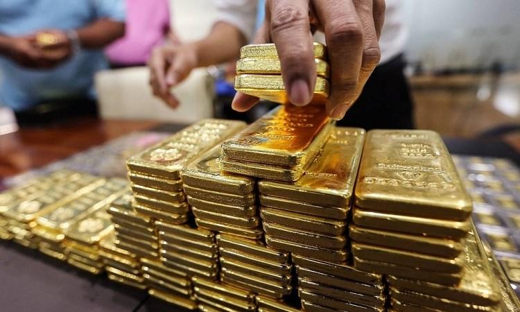 Giá vàng miếng lên đỉnh một năm trong ngày Thần Tài