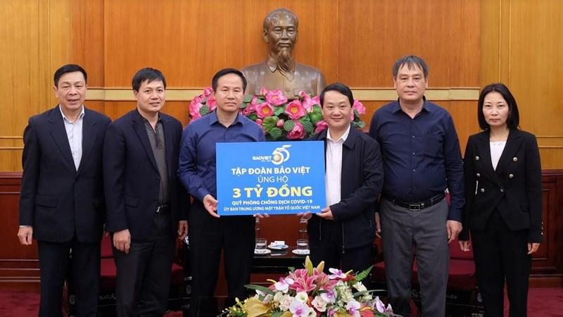 Bảo Việt ủng hộ 3 tỷ đồng cho Quỹ Phòng chống dịch Covid-19 của Ủy ban Trung ương Mặt trận Tổ quốc Việt Nam