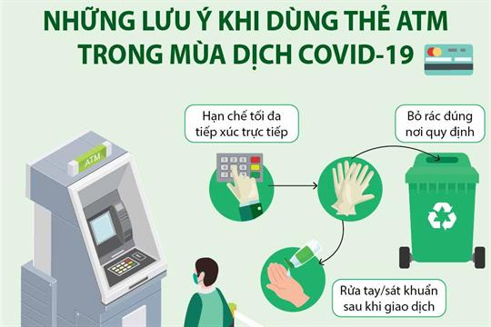 [Infographics] Những lưu ý khi dùng thẻ ATM trong mùa dịch COVID-19