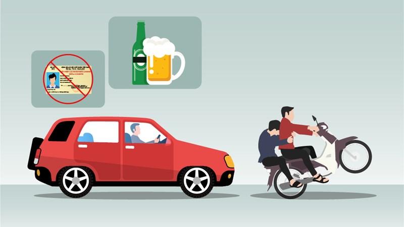 [Infographics] Đề xuất thêm hành vi bị nghiêm cấm khi lái xe