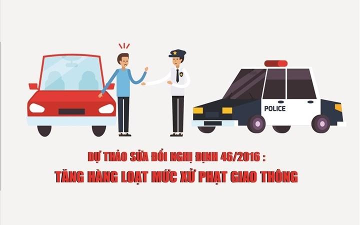 [Infographics] Dự thảo sửa đổi Nghị định 46: Mức xử phạt giao thông thay đổi thế nào?