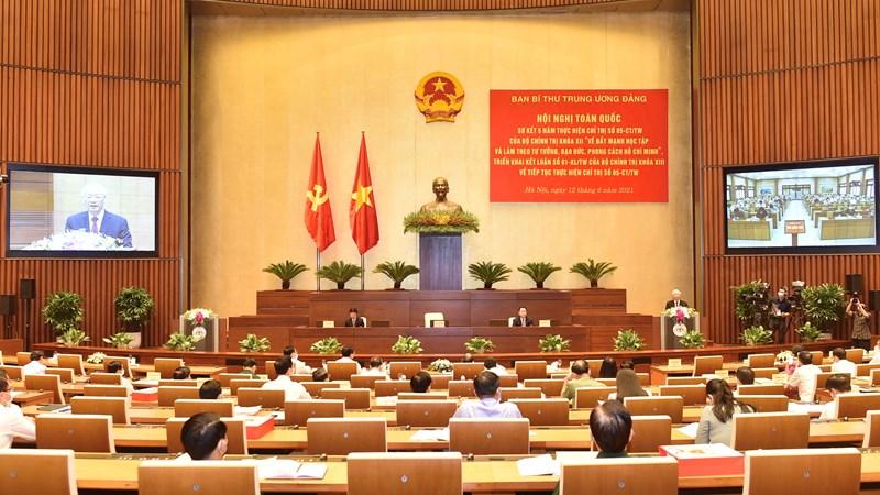 Hội nghị trực tuyến toàn quốc sơ kết 5 năm thực hiện Chỉ thị số 05-CT/TW của Bộ Chính trị khóa XII