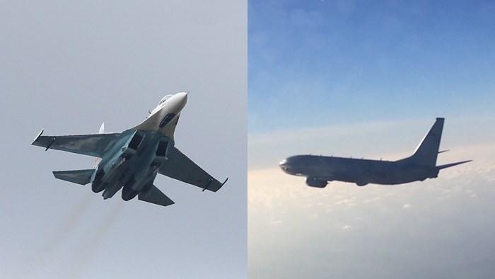 [Video] Tiêm kích Su-27 của Nga chặn máy bay P-8A Mỹ trên biển Baltics