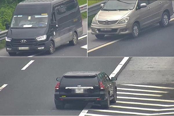 [Video] 3 ôtô đi lùi trên cao tốc Hà Nội - Hải Phòng