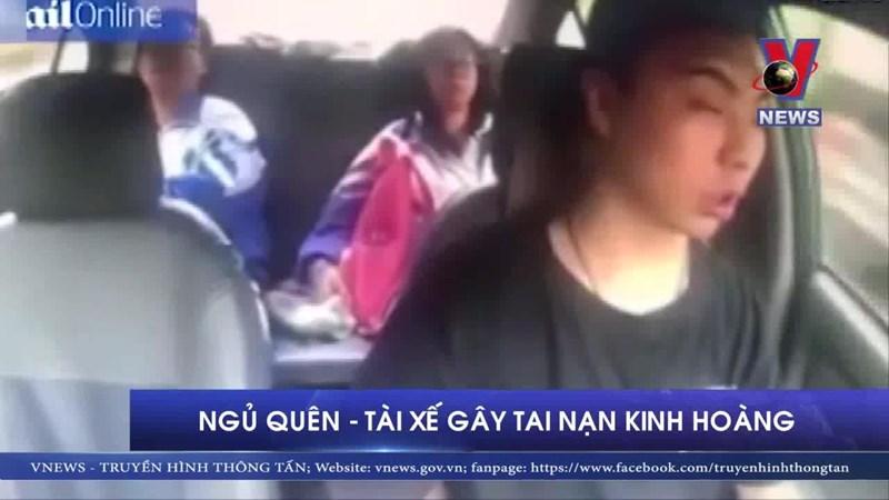 [Video] Buồn ngủ chỉ trong 4 giây, tài xế gây tai nạn kinh hoàng