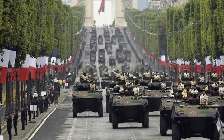 [Video] Binh sĩ, thiết giáp Pháp trong lễ duyệt binh quốc khánh
