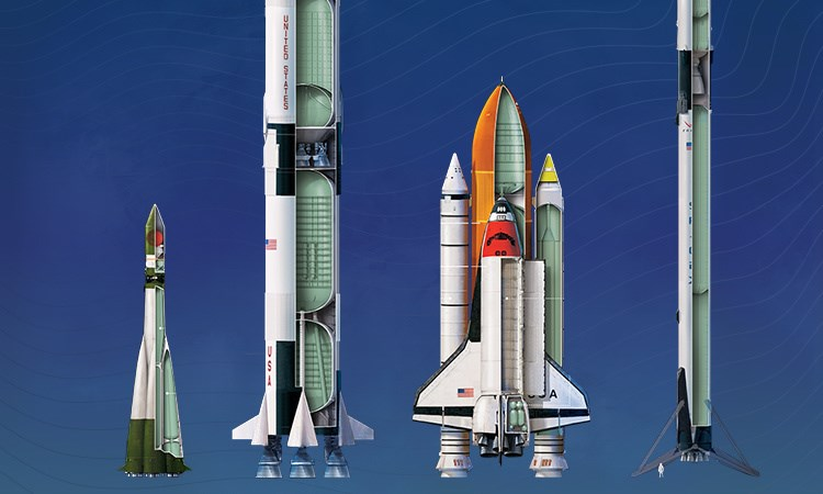 [Infographics] Những tên lửa được sử dụng trong lịch sử khám phá vũ trụ