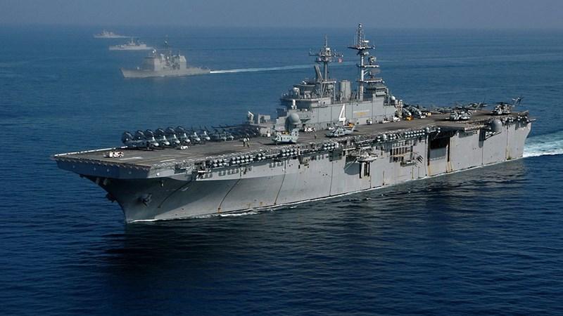[Infographics] Uy lực tàu đổ bộ Mỹ vừa bắn hạ UAV Iran