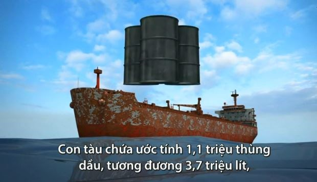 [Video] Tàu chở dầu hóa
