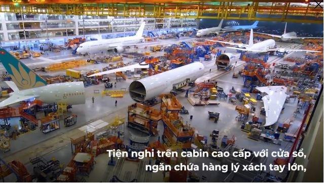 [Video] Cận cảnh lắp ráp, phun sơn máy bay Boeing 787-10 của Vietnam Airlines