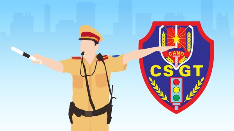 [Infographics] 9 quyền của cảnh sát giao thông theo quy định mới