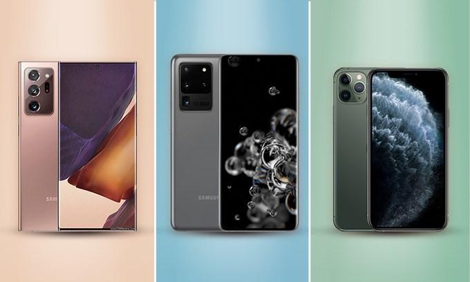 [Infographics] Galaxy Note20 đọ sức S20 Ultra 5G và iPhone Pro Max