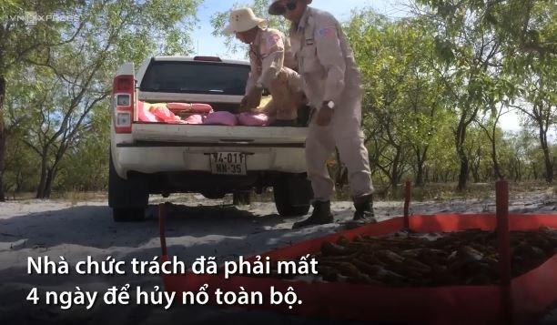 [Video] Hơn 1.400 quả đạn từ thời chiến tranh được hủy nổ