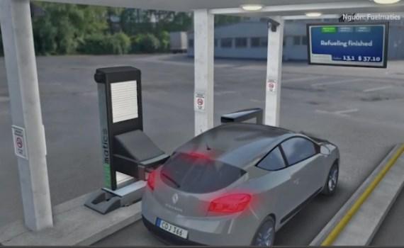 [Video] Hệ thống bơm xăng tự động tại Thụy Điển