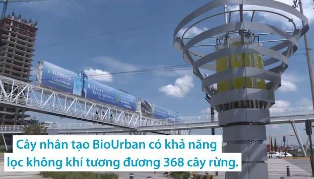 [Video] Cây nhân tạo lọc không khí ô nhiễm gấp 368 lần cây thật
