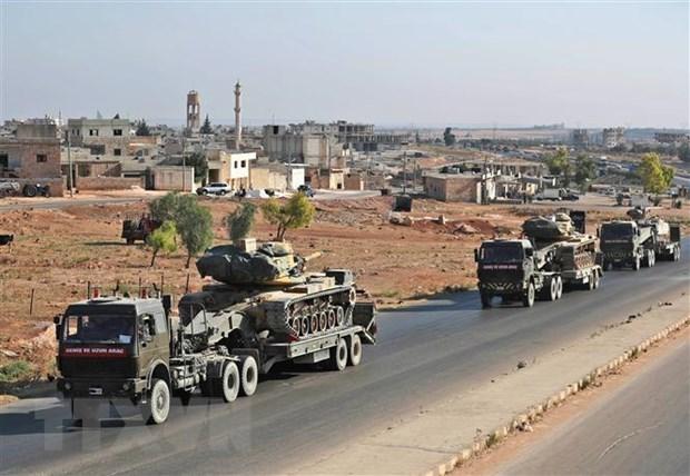[Video] Cảnh đoàn xe quân sự của Thổ Nhĩ Kỳ bị tấn công tại Syria