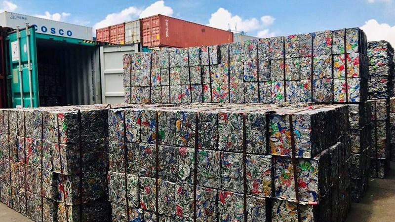 [Video] 5 container nhôm phế liệu