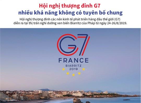 [Infographic] Hội nghị thượng đỉnh G7 nhiều khả năng không có tuyên bố chung