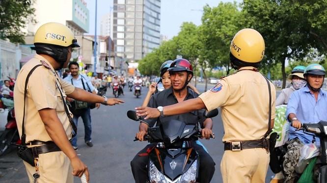 [Video] Những lỗi Cảnh sát giao thông phạt tại chỗ đối với xe máy