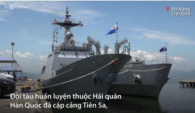 [Video] Đội tàu Hải quân Hàn Quốc cập cảng Tiên Sa