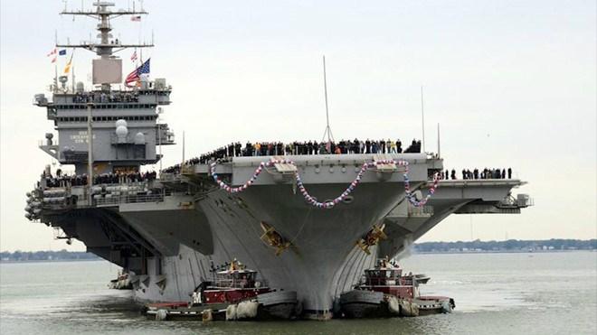 [Video] Tàu sân bay USS Enterprise lớn nhất của Hải quân Mỹ