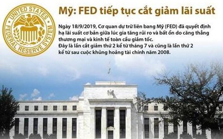 [Infographics] Mỹ: Fed quyết định tiếp tục cắt giảm lãi suất