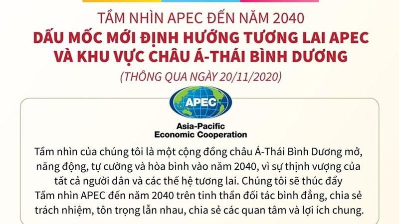 [Infographics] Dấu mốc mới định hướng tương lai APEC, khu vực châu Á - Thái Bình Dương