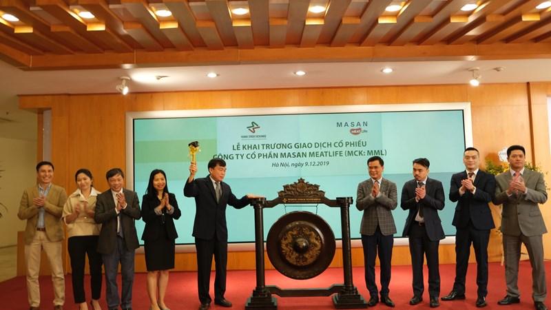 Hơn 324 triệu cổ phiếu Công ty cổ phần Masan MeatLife  chính thức giao dịch cổ phiếu tại UPCoM