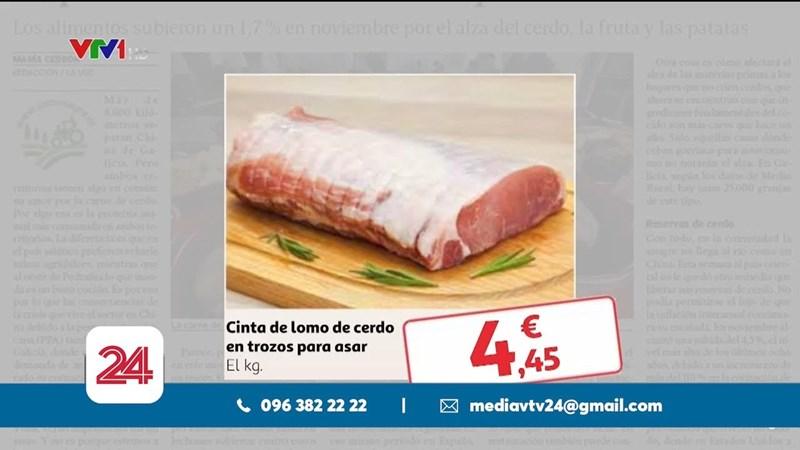 [Video] Cơn sốt giá thịt lợn lan sang châu Âu