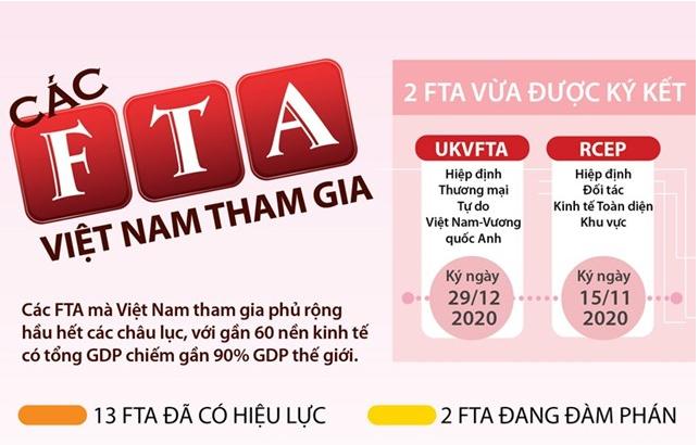 [Infographics] Những AFTA Việt Nam tham gia tính đến tháng 12/2020