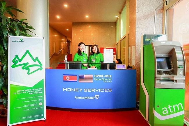 Vietcombank được cung cấp dịch vụ tiền tệ tại Trung tâm báo chí Hội nghị thượng đỉnh Mỹ - Triều