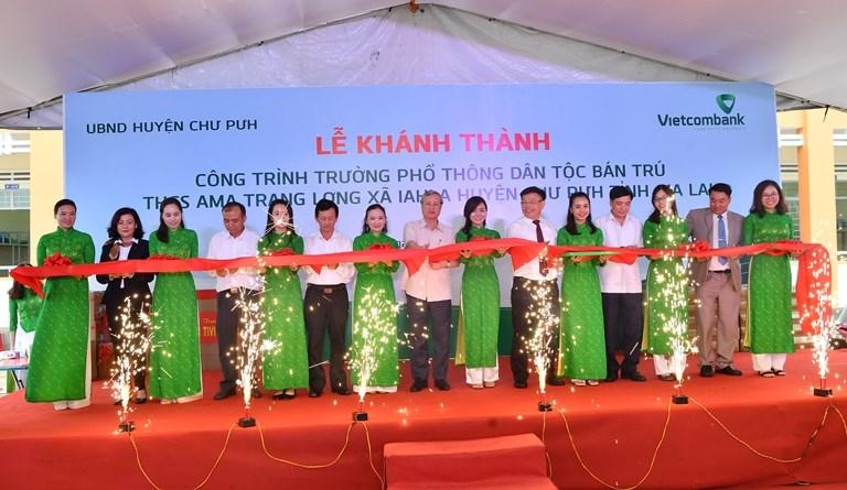 Vietcombank tài trợ 4,2 tỷ đồng cho một trường học tại Gia Lai