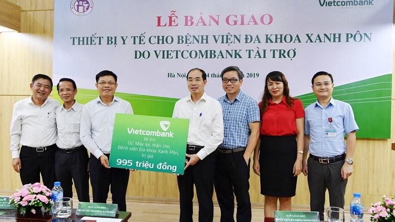 Vietcombank tài trợ 02 máy lọc thận cho  Bệnh viện Đa khoa Xanh Pôn