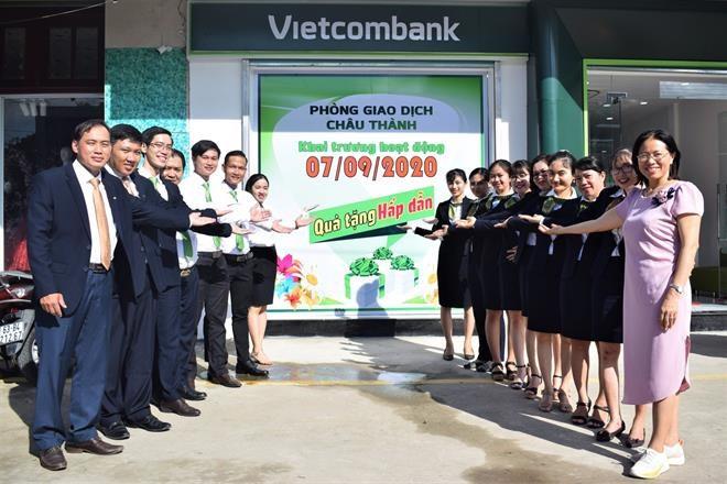 Vietcombank Tiền Giang khai trương phòng giao dịch Châu Thành