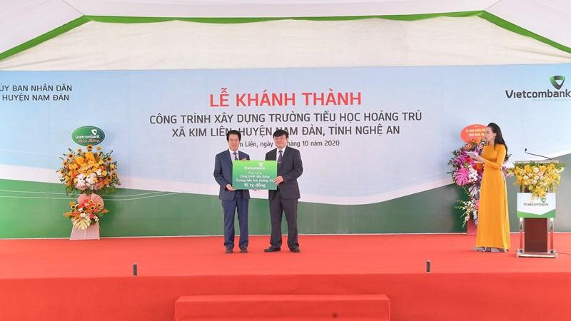 Vietcombank xây dựng trường cho học sinh tại Nam Đàn, Nghệ An